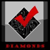 Σύμβολο καρτών διαμαντιών Στοκ εικόνα με δικαίωμα ελεύθερης χρήσης