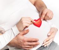 Έγκυος γυναίκα με το άτομο στοκ εικόνες