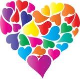 Σύμβολο καρδιών της αγάπης διανυσματική απεικόνιση