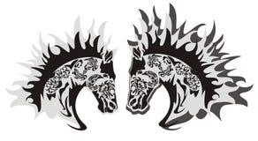 Σύμβολο κεφαλιών αλόγων, διάνυσμα Στοκ Εικόνες