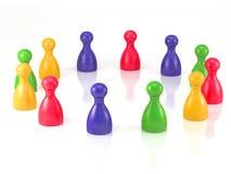 Σύμβολο κομματιών επιτραπέζιων παιχνιδιών για την ηγεσία Στοκ Εικόνες