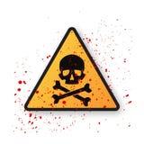 σύμβολο κρανίων σημαδιών κ Στοκ εικόνα με δικαίωμα ελεύθερης χρήσης