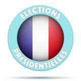 Σύμβολο κύκλων της εκλογής 2017 στη Γαλλία Στοκ Εικόνες