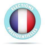 Σύμβολο κύκλων της εκλογής 2017 στη Γαλλία ελεύθερη απεικόνιση δικαιώματος