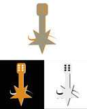 σύμβολο μουσικής ακουστικών σφαιρών Στοκ εικόνες με δικαίωμα ελεύθερης χρήσης