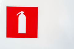 Σύμβολο πυροσβεστήρων Στοκ φωτογραφία με δικαίωμα ελεύθερης χρήσης