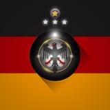 Σύμβολο σημαιών ποδοσφαίρου της Γερμανίας διανυσματική απεικόνιση