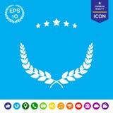 Σύμβολο στεφανιών δαφνών Στοκ εικόνα με δικαίωμα ελεύθερης χρήσης