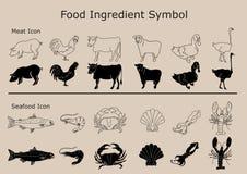 Σύμβολο συστατικών τροφίμων Στοκ φωτογραφίες με δικαίωμα ελεύθερης χρήσης