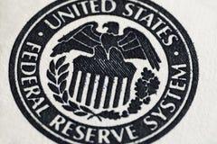 Σύμβολο συστημάτων Ηνωμένης Κεντρικής Τράπεζας των ΗΠΑ Στοκ φωτογραφία με δικαίωμα ελεύθερης χρήσης