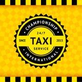 Σύμβολο ταξί με το ελεγμένο υπόβαθρο - 15 διανυσματική απεικόνιση