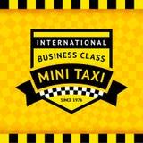 Σύμβολο ταξί με το ελεγμένο υπόβαθρο - 04 απεικόνιση αποθεμάτων