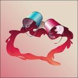 Σύμβολο της αγάπης, η καρδιά του χρώματος Στοκ Εικόνες