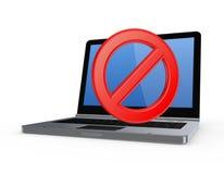 Σύμβολο της απαγόρευσης στο σημειωματάριο. Στοκ Εικόνες