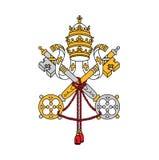 Σύμβολο της πόλης του Βατικανού, διανυσματική απεικόνιση απεικόνιση αποθεμάτων