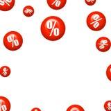 Σύμβολο τοις εκατό στο έμβλημα Στοκ Εικόνα