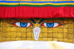Σύμβολο του Νεπάλ, μάτια του Βούδα στο Κατμαντού. Στοκ φωτογραφία με δικαίωμα ελεύθερης χρήσης