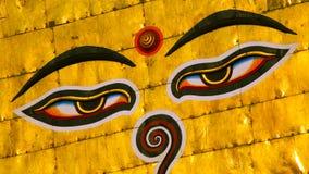 Σύμβολο του Νεπάλ, μάτια του Βούδα στο Κατμαντού. Στοκ εικόνα με δικαίωμα ελεύθερης χρήσης