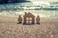 Σύμβολο του σπιτιού και της οικογένειας Στοκ φωτογραφία με δικαίωμα ελεύθερης χρήσης