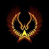 Σύμβολο του Phoenix με τις ισχυρές ελαφριές φλόγες Στοκ φωτογραφία με δικαίωμα ελεύθερης χρήσης