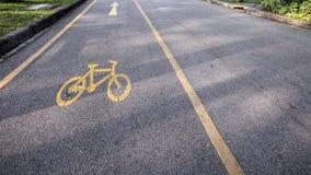 Σύμβολο φακών ποδηλάτων στο πάρκο Στοκ φωτογραφία με δικαίωμα ελεύθερης χρήσης