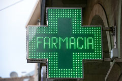 Σύμβολο φαρμακείων στοκ εικόνες