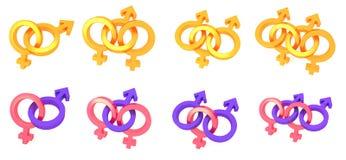 Σύμβολο φύλων Στοκ Εικόνα