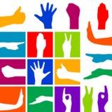 Σύμβολο χεριών διανυσματική απεικόνιση