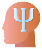 Σύμβολο ψυχιατρικής Στοκ Εικόνες