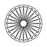 Σύμβολο Chakra Ashoka απεικόνιση αποθεμάτων