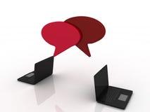 Σύμβολο Chatt στο lap-top σας Στοκ εικόνα με δικαίωμα ελεύθερης χρήσης