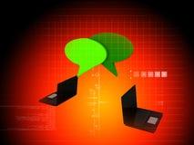 Σύμβολο Chatt στο lap-top σας Στοκ Εικόνα