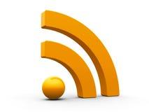 Σύμβολο RSS isometry Στοκ φωτογραφία με δικαίωμα ελεύθερης χρήσης