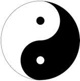 σύμβολο yang yin Στοκ Φωτογραφία