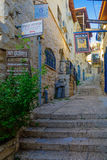 Σύμμαχος με τα διάφορα σημάδια, σε Safed ( Tzfat)  στοκ φωτογραφία με δικαίωμα ελεύθερης χρήσης