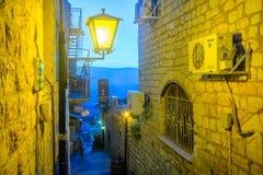 Σύμμαχος με τα διάφορα σημάδια, σε Safed ( Tzfat)  στοκ εικόνες με δικαίωμα ελεύθερης χρήσης