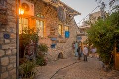 Σύμμαχος με τα διάφορα σημάδια, σε Safed ( Tzfat)  στοκ εικόνες