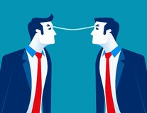 Σύνδεση Ανταλλαγή επιχειρησιακών προσώπων των ιδεών Επιχειρησιακή διανυσματική απεικόνιση έννοιας διανυσματική απεικόνιση