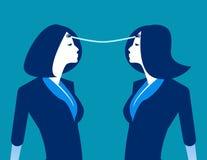 Σύνδεση Ανταλλαγή επιχειρησιακών προσώπων των ιδεών Επιχειρησιακή διανυσματική απεικόνιση έννοιας ελεύθερη απεικόνιση δικαιώματος