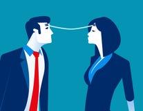 Σύνδεση Ανταλλαγή επιχειρησιακών προσώπων των ιδεών Επιχειρησιακή διανυσματική απεικόνιση έννοιας απεικόνιση αποθεμάτων
