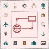 Σύνδεση στο Διαδίκτυο, ανταλλαγή στοιχείων, εικονίδιο έννοιας μεταφοράς ελεύθερη απεικόνιση δικαιώματος