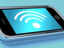 Σύνδεση στο Διαδίκτυο Wifi σε ένα κινητό τηλέφωνο Στοκ φωτογραφία με δικαίωμα ελεύθερης χρήσης