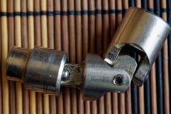 Σύνδεσμος για την υποδοχή Torx για το κλειδί στο ξύλινο υπόβαθρο Στοκ εικόνα με δικαίωμα ελεύθερης χρήσης