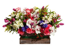 Σύνθεση ανθοδεσμών λουλουδιών για τις διακοπές, ανθοδέσμη άνοιξη του ΛΦ Στοκ Εικόνα
