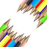 Σύνθεση από τα μολύβια χρώματος. Διανυσματική απεικόνιση Στοκ Φωτογραφίες