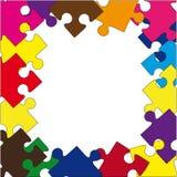 Σύνθεση από τους γρίφους χρώματος. Διανυσματική απεικόνιση Στοκ Φωτογραφίες