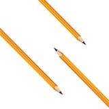 Σύνθεση από τρία κίτρινα μολύβια. Διάνυσμα   Στοκ Φωτογραφία