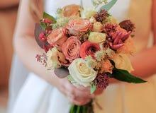 Σύνθεση γαμήλιων λουλουδιών στοκ εικόνες
