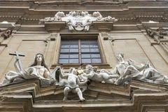 Σύνθεση γλυπτών στο κτήριο Δικαστηρίου στη Φλωρεντία Στοκ Εικόνα