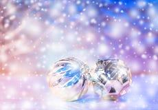 Σύνθεση διακοπών Χριστουγέννων στο θολωμένο υπόβαθρο με το διάστημα αντιγράφων στοκ φωτογραφία με δικαίωμα ελεύθερης χρήσης